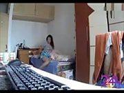 ซ่อนกล้อง ถ่ายพี่น้องสาวมหาลัยในหอพักนมใหญ่มาก