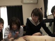 Jav Idol Schoolgirls BJ Face Sit Fuck One Lucky Guy